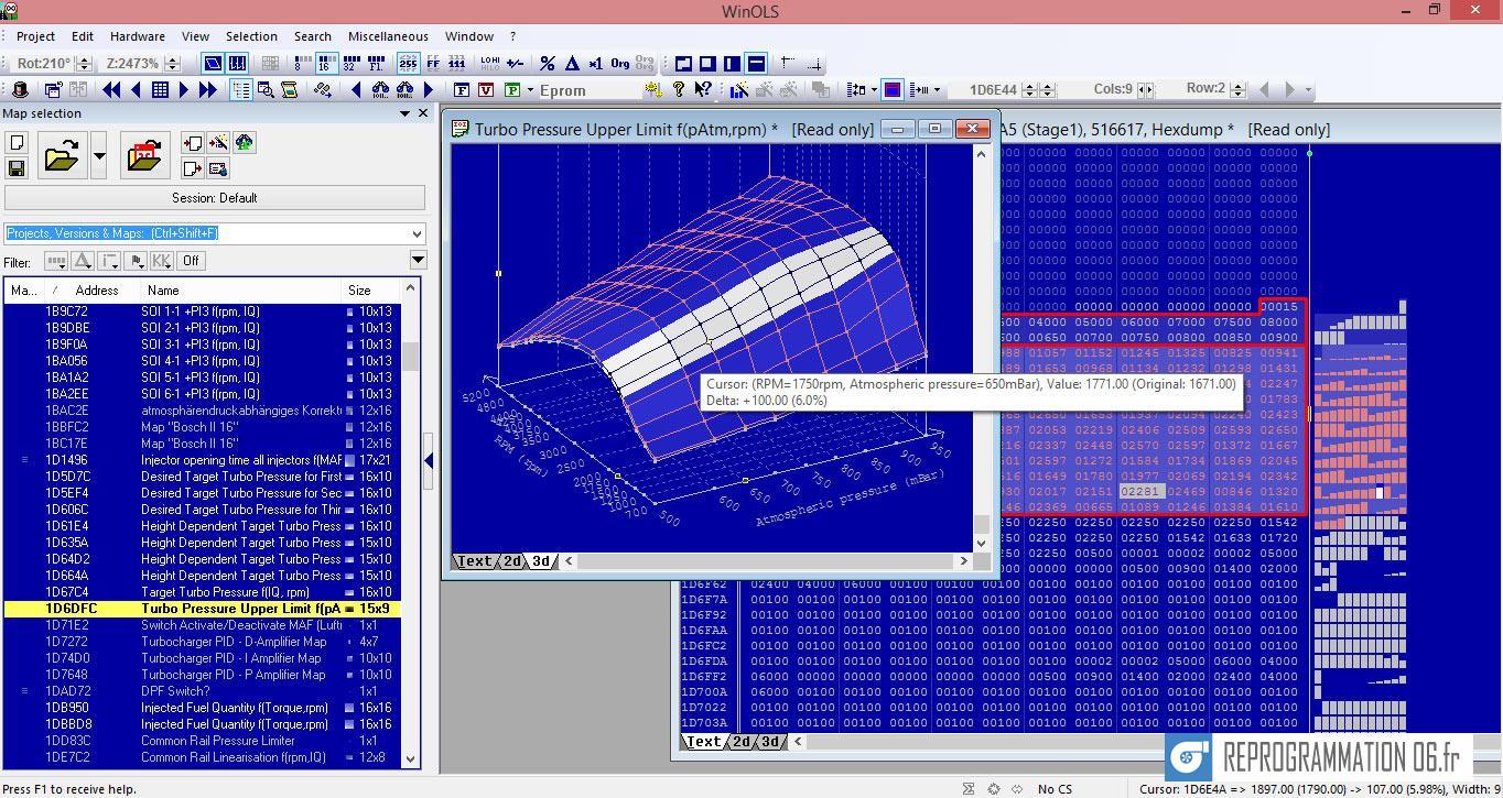 Reprogrammation moteur sur mesure